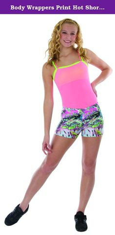 Body Wrappers Print Hot Shorts, Paisley Daisy, 12-14. Add some flair to your dance ensemble with these printed dance shorts by Body Wrappers! Many different patterns to choose from to complete your look! Great for in the Studio, on Stage or Just to Make a Fashion Statement Their Smooth, Lightweight and Stretch Material Provides You with Long Lasting Comfort,Bright Colored Star Print Features Metallic Highlights Hot Shorts are Perfect for Dance, Gym or Other Athletic Activities.