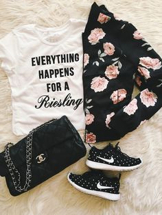 graphic tee, graphic tshirt, cute graphic tees, nike shoes, bomber jacket, chanel bag, how to dress your graphic tee