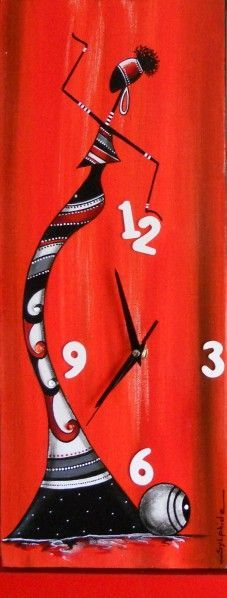Commande de cette Rastal'heure en rouge et noire Format 20x50: