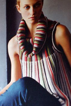 Anthropologie magic again! This is knitted sideways with garter and pearl… Mode Crochet, Knit Crochet, Anthropologie, Crochet Fashion, Crochet Clothes, Knitting Projects, Knitwear, Knitting Patterns, My Style