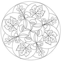 autumn mandala coloring pages - 1000 images about thema herfst allerlei on pinterest