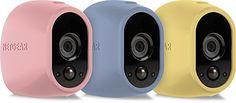 NETGEAR Arlo VMA1200C-1000S 3er Set Siliconcover �berwachung (geeignet f�r Arlo HD Kamerasystem, nicht f�r Arlo Q) rosa/hellblau/gelb