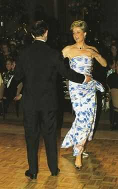 January 27, 1988: Prince Charles twirls Princess Diana around the dance floor to the strains of Glen Miller's 'In The Mood' at an Australia Day Dinner and Dance, Hyatt Hotel, Melbourne