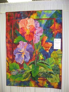 Paducah 030 by Compwalla Textiles, Flower Quilts, Miniature Quilts, Art Textile, Landscape Quilts, Quilted Wall Hangings, Applique Quilts, Quilting Designs, Quilting Ideas