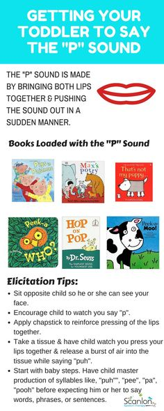 Getting Toddler to Say P Sound. Tips and book recommendations included.