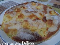 Tarte au sucre (thermomix) Dessert Thermomix, My Dessert, Sweet Recipes, Quiche, Food Porn, Food And Drink, Pudding, Gluten, Cooking