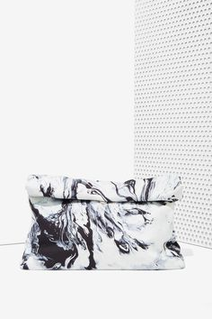 Marbleized clutch.