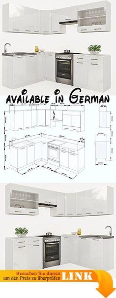 B017RKAWGW  idealShopping GmbH Unterschrank mit Arbeitsplatte - unterschrank küche 60 cm