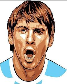 How Crazy Are You About Lionel Messi? Lionel Messi, Messi 10, God Of Football, Football Art, Soccer Art, Ronaldo Real Madrid, Sport Icon, Vector Portrait, Cute Actors