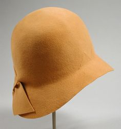 Womans Cloche Marcelle (France, Cannes-Vichy, active early 20th century) France, 1929 Costumes; Accessories Fur felt Gift of Lucy M. Clark
