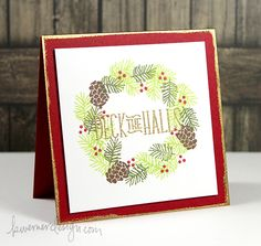 Lawn Fawn - Deck the Halls _ Holiday Card Series 2014 – Day 18 by Kristina Werner