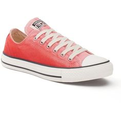 Women's Converse Chuck Taylor All Star Sneakers, Adult Unisex, Size:... ($55) ❤ liked on Polyvore featuring shoes, pink break light, pink shoes, converse shoes, colorful shoes, print shoes and lace shoes