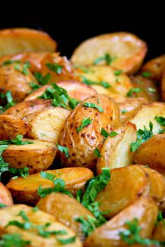 These are my favorite roasted potatoes, I make them all the time. They are tender, delicious and pretty too.  You can microwave the potatoes in their jackets to reduce cooking time if you wish. No need to peel them as the skin contains nutrients and...