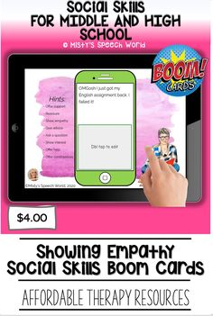 $4.00 · If you're looking for Boom cards for speech therapy to work on social skills for teens, these cards are just what you are looking for. This is a NO prep speech therapy activity: Buy now and you are ready to go! Find this and many more speech therapy resources for teens at Misty's Speech World! Buy now: to purchase this deck of boom cards, click on this pin and purchase to add this therapy resource to your speech therapy toolkit!
