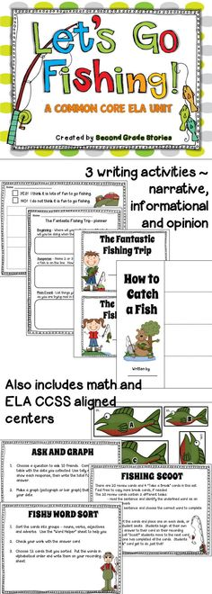 $ - Common Core writing - all 3 genres PLUS extra math and ELA activities and a cute glyph
