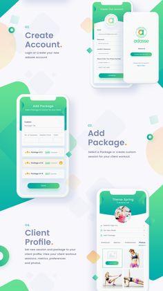 Adasse: Mobile App Design on Behance – Make Mobile Applications Design Web, Sitemap Design, Layout Design, Design Logo, Design Poster, App Ui Design, Flat Design, Graphic Design, Mobile App Design
