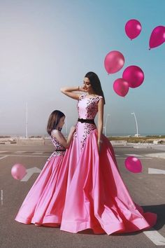 Modest Prom Dress, Prom Dress Long, Evening Dresses Cheap, A-Line Evening Dresses, Custom Prom Dress Prom Dresses Long Pink Prom Dresses, A Line Prom Dresses, Cheap Prom Dresses, Girls Dresses, Dress Prom, Dress Long, Dresses Dresses, Evening Dresses, Mother Daughter Matching Outfits