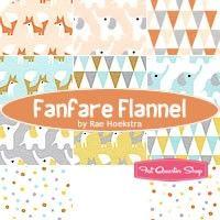 Fanfare Flannel Fat Quarter Bundle Rae Hoekstra for Cloud9 Fabrics