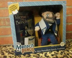Mensch on the Bench Jewish Family Tradition Elf Shelf Happy Hanukkah Doll Book