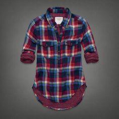 Womens Shannon Flannel Shirt | Womens Shirts | Abercrombie.com