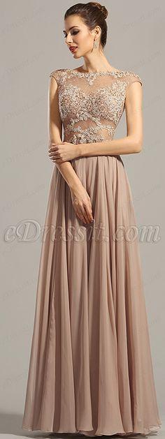 Einen stilvollen Eingang in dieses wunderschöne rosa braunen Kleid! #elegant #abendkleid