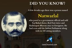 Did you know about Natwarlal Who Sold Taj Mahal Thrice! Did You Know, Taj Mahal, Infographics, Information Graphics, Infographic, Info Graphics