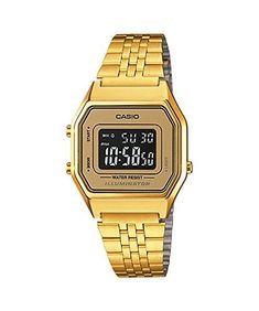 Casio Ladies MidSize Gold Tone Digital Retro Watch LA680WGA9BDF >>> Continue to the product at the image link.