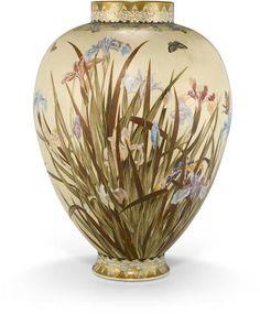 A Satsuma large ovoid vase By the Kinkozan Studio, Meiji (1868-1912) or Taisho…