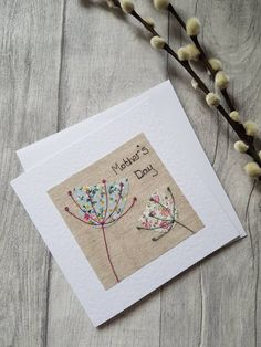 Check out the link for more information on mothers day crafts for preschoolers Diy Mother's Day Crafts, Mothers Day Crafts, Paper Crafts, Fabric Cards, Fabric Postcards, Embroidery Cards, Free Motion Embroidery, Freehand Machine Embroidery, Free Machine Embroidery
