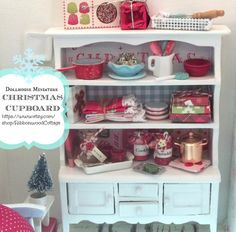 Christmas Cupboard112 Dollhouse Miniature by RibbonwoodCottage, $85.99