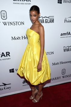 Aya Jones attends the 7th Annual amfAR Inspiration Gala New York at Skylight at Moynihan Station on June 9, 2016 in New York City.