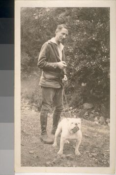 February 6, 2013: Digital Object of the Day: Poet Robinson Jeffers and dog.  The Bancroft Library, UC Berkeley.