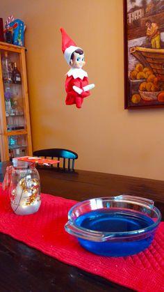 Elf on the Shelf - CANNONBALL! Christmas Decorations, Christmas Holidays, Xmas Elf, Merry Christmas, Christmas Crafts, Christmas Ideas, Christmas 2019, Christmas Stuff, Elf On Shelf Funny