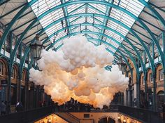 Invasion de ballons by Charles Petillon | Balloons, white, cloud,light | Covent Garden, London, UK