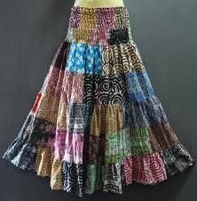 Long hippie skirts!