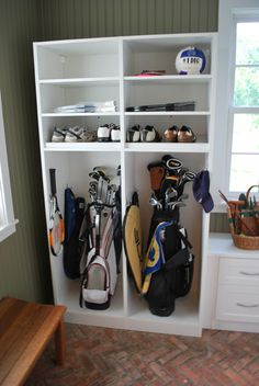 golf lockers in garage - Google Search