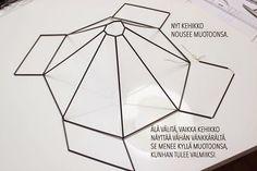 Magdan kotona: Diy uusi lamppu + ohje Sissi, Hobbies And Crafts, Lanterns, Origami, Diy, Christmas, Wooden Chandelier, Pendant Light Fitting, Diy And Crafts