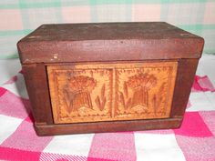Vintage Butter Mold with Wheat Bales