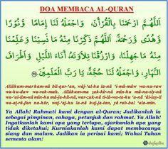 Doa Sebelum Dan Selepas Membaca Al-Quran