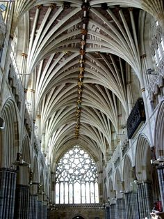 Exeter Cathedral, Devon, UK  (That ribbed vaulting is simply amazing!)