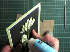 Video showing how to make lotus flowers for your card fronts