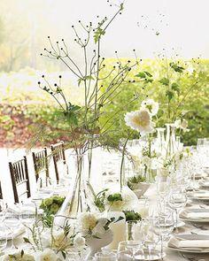 table centerpiece via martha stewart weddings