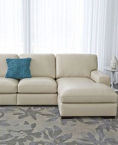 Porterville Cream Leather Sectional Sofa   Visit Here :  Http://sectionalsofasale.net