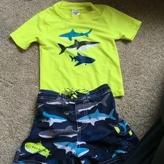 24m swimming trunk & shirt Worn once Carters Other