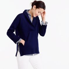 J.Crew Collection bonded shawl popover sweater