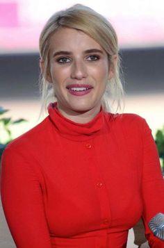 Emma Roberts sleek ponytail hairstyle...