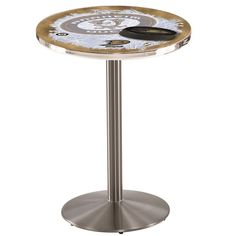 Anaheim Ducks NHL D2 Stainless Steel Pub Table. Available in two widths. Visit SportsFansPlus.com for details.