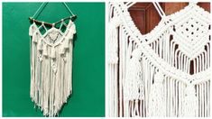 DIY MACRAME WALL HANGING TUTORIAL Arts And Crafts, Art Crafts, Macrame Plant Hangers, Macrame Cord, Crochet Top, Wall, Diy, Youtube, Ornaments