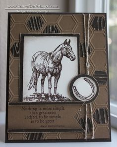 Horse Frontier in Soft Suede and Early Espresso by amyk3868 - Cards and Paper Crafts at Splitcoaststampers