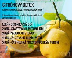 Citrónový detox a úprava Russian Recipes, Cleanse, Fruit, Fitness, Food, Diet, Medicine, Essen, Meals